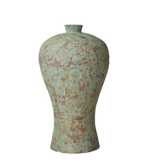 Qinlin Vase - Verdigris