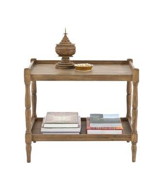 Radnor Large Sofa Side Table, Weathered Oak