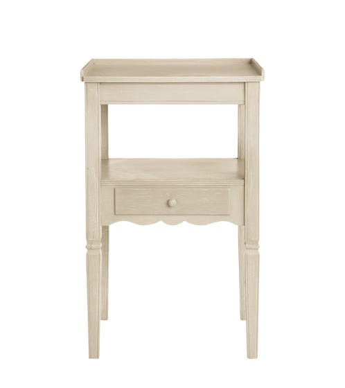 Radnor Wood Bedside Table - Linen Grey