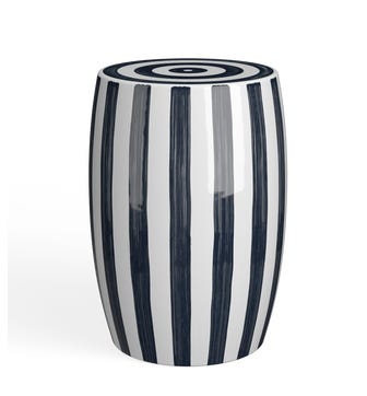 Rander Ceramic Stool - Black/White