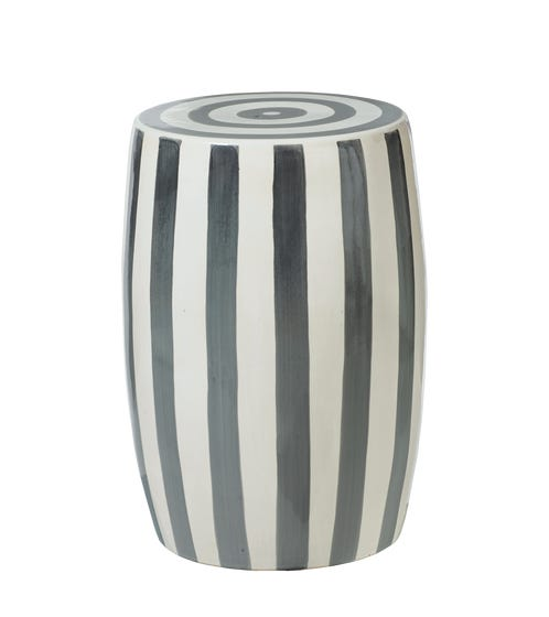 Rander Ceramic Stool - Charcoal/White