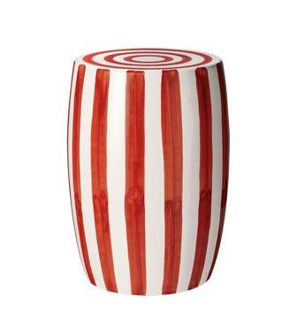 Rander Ceramic Stool - Red/White