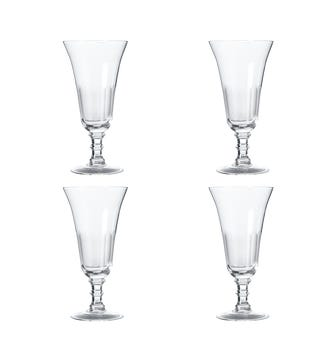 Ranelagh Champagne Flutes, Set of 4 - Clear