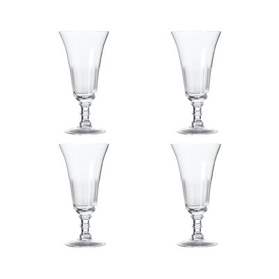 Set of Four Ranelagh Champagne Flutes - Clear