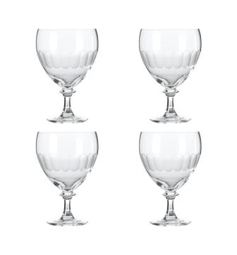 Ranelagh Large Wine Goblet, Set of 4 - Clear