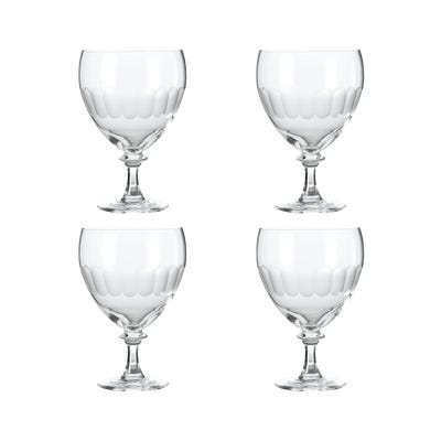 Set of Four Large Ranelagh Wine Goblets - Clear