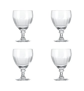 Set of Four Small Ranelagh Wine Goblets - Clear