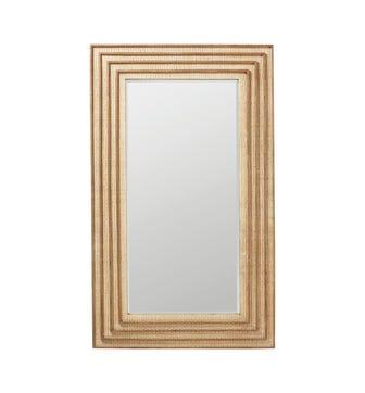 Raphia Mirror - Natural