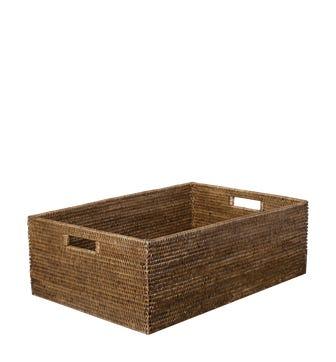 Rattan Delta Storage Box, Large