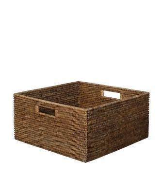 Rattan Delta Storage Box, Medium