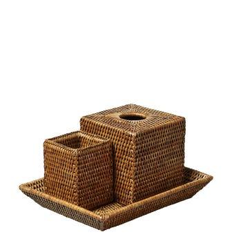 Rattan Gift Set - Brown
