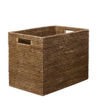 Rattan High Delta Storage Box, Small