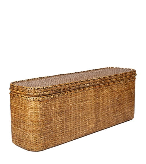 Rattan Indochine Bed-End Chest