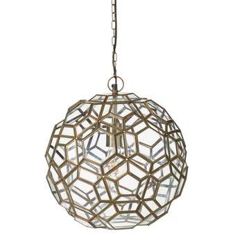 Razmataz Hanging Lantern - Antique Brass