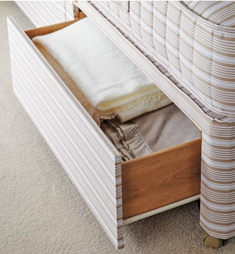 Super King Divan Bed Base with Drawers - Natural