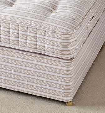 King Divan Bed Base without Drawers - Natural