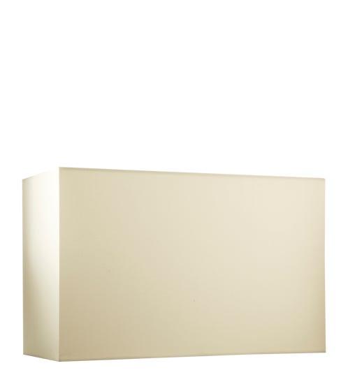 Rectangular Shade Cotton (35x15x22cmH) & Carrier - Natural