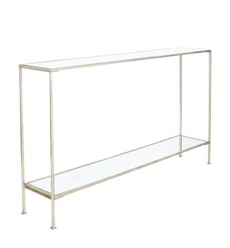 Rivulet Console Table, Large - Antiqued Silver