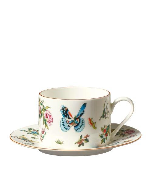 Roseraie Tea Cup & Saucer - Multi