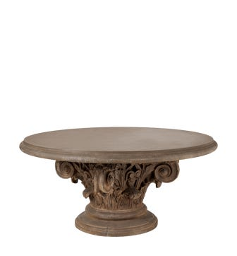 Round Acanthus Dining Table - Brown