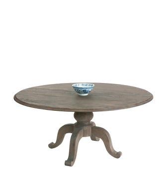Round Arthur Dining Table - Burnt Oak