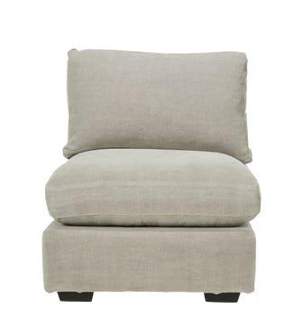 Savile Armless Chair - Washed Grey