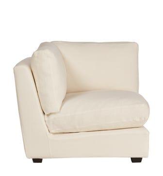 Savile Armless Sofa Chair Loose Cover - Off White