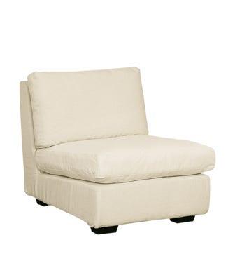 Savile Armless Sofa Chair - Ecru