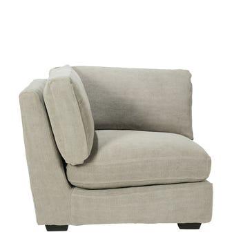 Savile Corner/End Piece Loose Cover - Washed Grey