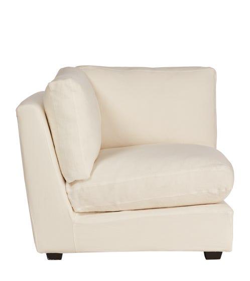 Savile Modular Armless Chair - Off White