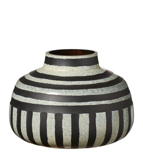 Scarab Vase - Charcoal