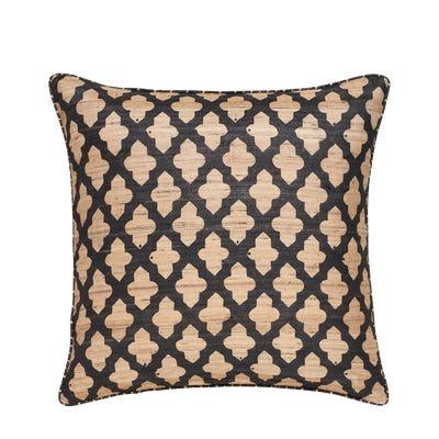 Serigraph Reversible Pillow Cover - Black / Natural