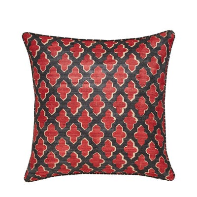 Serigraph Reversible Pillow Cover - Red / Black