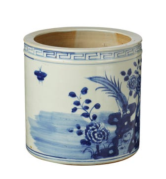 Shanren Planter - Blue/White
