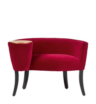 Sherzad Chair With Side Table - Grenache