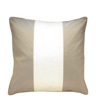 Silk Taffeta Stripe Cushion Cover - Grey