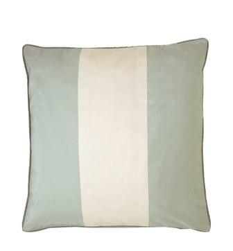 Silk Taffeta Stripe Cushion Cover - Pale Blue