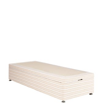 Single Divan Bed Base without Drawers - Natural