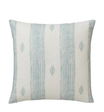 Skoura Cushion Cover (51cmSq) - Pale Blue/White