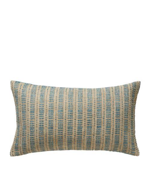 Small Binarii Pillow Cover - Blue