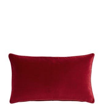 Small Plain Velvet Pillow Cover - Garnet