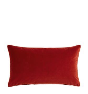 Small Plain Velvet Pillow Cover - Cinnamon