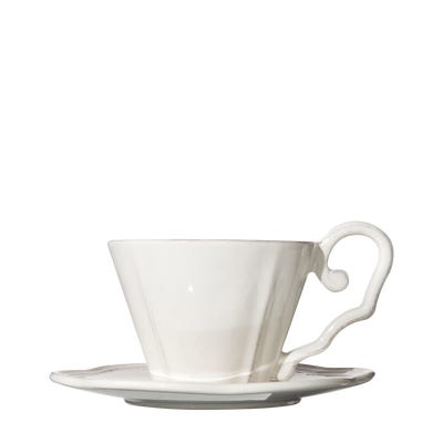 Sorano Breakfast Cup & Saucer, Off-White - White