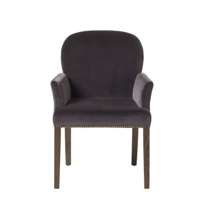 Stafford Dining Chair With Arms - Charcoal