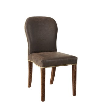 Stafford Leather Dining Chair - Aged Truffle