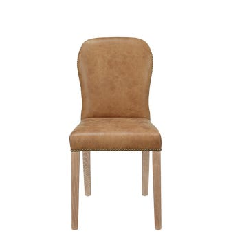 Stafford Leather Dining Chair - Aged Tobacco