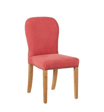 Stafford Linen Dining Chair - Coral