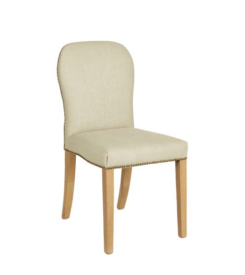 Stafford Linen Dining Chair - Natural