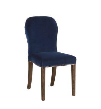 Stafford Velvet Chair - Perfect Navy