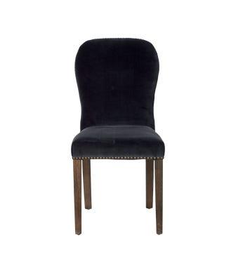 Stafford Velvet Chair - Charcoal